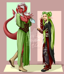 Tiefling and Elf Body Swap Commission by artifexabyssal