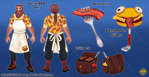 Bacon BBQ Skin Concept - Fornite by celestialsunberry