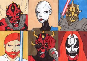 Sketch Card: Brothers and Revenge by Giorgia99