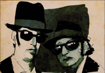 The Blues Brothers by akenoomokoto