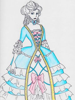 1750-1780s French Court Fashion Inspired Gown by OakEvolution