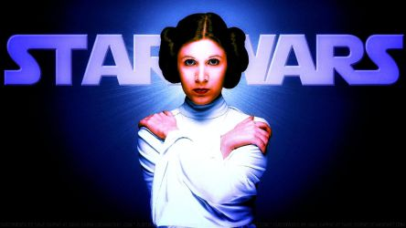 Carrie Fisher Princess Leia XLII Colourized by Dave-Daring