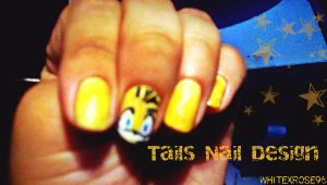 Tails Nail Art/Design by WhiteXRose96