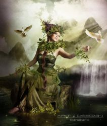 green beauty by CindysArt