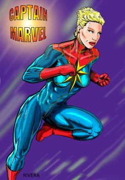Captain Marvel by lenlenlen1