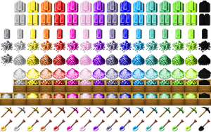 Re-Colored Metalbars, Tools/Gravel [RPG-Maker-MV] by petschko
