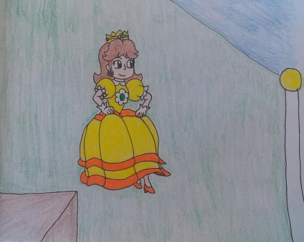 Princess Daisy's Double Jump. by earthbouds
