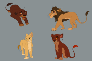 Lion King adoptables Part 2- FOR POINTS by Ersalaa
