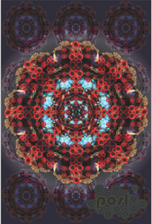 Red and Blue Mandala by APOSL