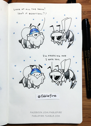 180129 Wasp Is Freezing by fablefire