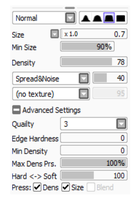 Realistic Pencil Settings For Sai by TheComicStream