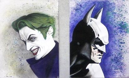 Batman and the Joker: A Diptych by A-Fragile-Smile