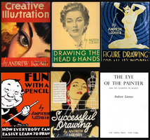 Andrew Loomis books by QuicheLoraine