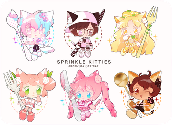 Sprinkle Kitty Adopts 31-36 (SET PRICE OPEN) by ikkuyo