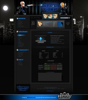 Web design: Hitman Corp by SOSFactory