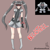 Registeel (Gijinka) by Meloewe