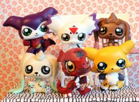 Digimon Season 3 customs by pia-chu