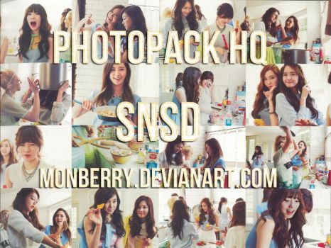 Photopack HQ SNSD in the garden by MonBerry