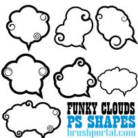 Funky Clouds Custom Shapes by Brushportal