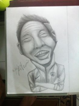 My 1st caricature by indraanshori