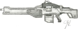 The Dishonorable Discharge Exotic Machine Gun by Chigiri16