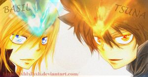 KHR:tsuna and basil 8.2 by hxhlxlhxh