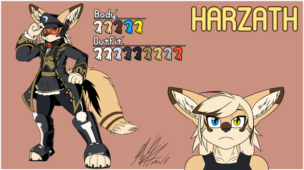 Harzath Character Sheet (Gift Commission For Anya) by CHAOKOCartoons