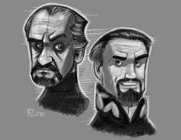 Two Masters Sketch by jonpinto