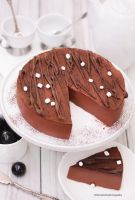 Silky Smooth Chocolate Mousse Cake by theresahelmer