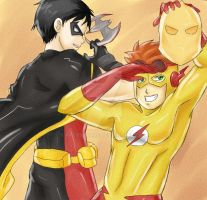 Young Justice Bros by ArtySquare
