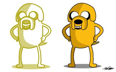 Request - Jake the Dog by Adam-Clowery
