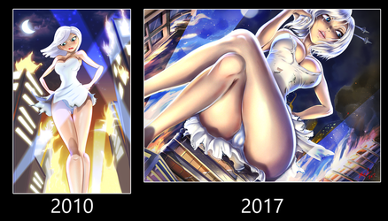 Ginormica Attack 2010 and 2017 by Bryan-Lobdell