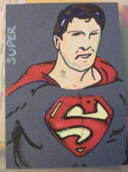 Superman ATC by cherith