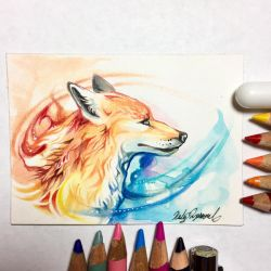 Mystic Fox ACEO by Lucky978