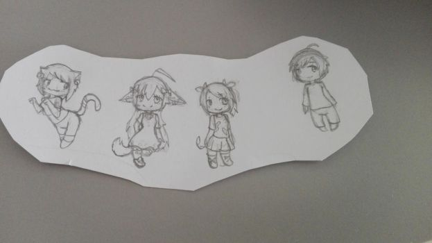 Group of chibis by KotaSosuke