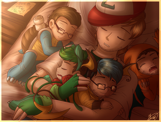 .: Yamimash and Pokenom GANG - Sleepy Time :. by AquaGD