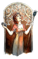 The High Priestess by Songes-et-crayons