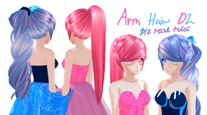 Animasa remake model (ARM) Base Hair DL by Littlemisshorror