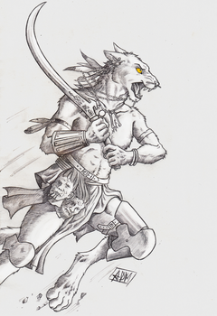 ''Daily'' sketch - Fury. (updated) by 0laffson