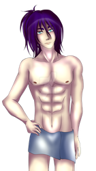 Kaito in towel by ShawtyWhiite