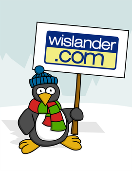 Penguin with Sign by wislander