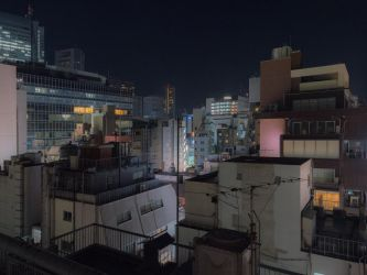Paysage de Tokyo ( Urban downtown night ) by stephane-bdc