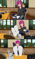 Shoes Off Show Off With Natsumi (Socks Version) by tehfogo