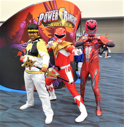 White Ranger Hoodie Ryoga and Red Rangers by R-Legend