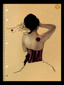 Girl on a Notebook by sjeo