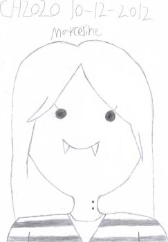 A sketch of Marceline From Adventure Time 10/12/12 by Chernandez2020