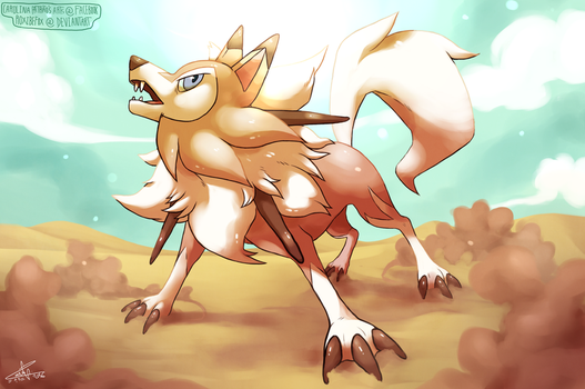 Lycanroc (midday form) by RoxiBeFox