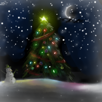 Christmas Treeee by Midna-Mcellion