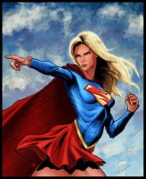 Supergirl Rebirth (color version) by ElieBongrand