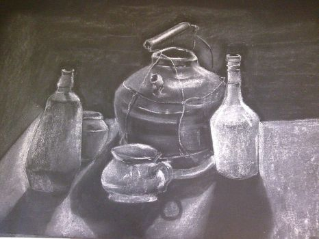 pastel work, still life by e-mn